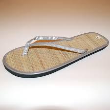 womens bamboo sandal flip flops light flats beach summer shoe