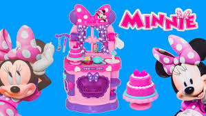 Pink Retro Kitchen Collection Minnie Mouse Disney Sweet Surprise Kitchen Toys Video Unboxing