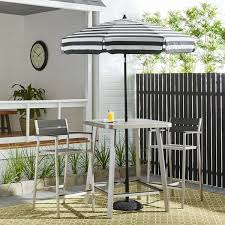 Overstock Patio Umbrella Italian Bistro 6 Foot Acrylic Striped Patio Umbrella Free