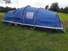 zenobia 6 6x man tent with 2x sleeping pods in sowerby north