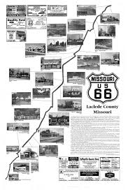 Old Route 66 Map by Drive Historic Route 66 In Laclede County With This Map Front