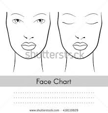 vector beautiful woman face chart portrait stock vector 418110829