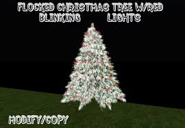christmas tree no lights second life marketplace 2 prim flocked christmas tree w red