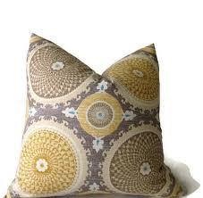 Horseradish Yellow and Black Painterly Texture Pillow Cover