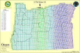 utm zone map state of oregon oregon geospatial enterprise office oregon