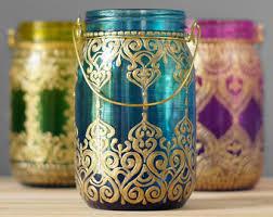 Metal Home Decorating Accents Summer Boho Decor Moroccan Lantern Inspired Mason Jar