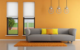 orange wall interior design interieur decor pinterest orange