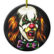 evil clown ornaments keepsake ornaments zazzle