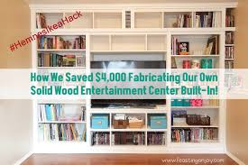 how we saved 4 000 fabricating our own solid wood entertainment