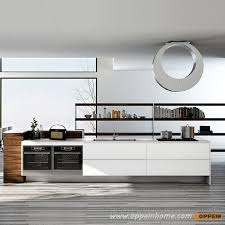 White Lacquer Kitchen Cabinets Op16 L17 Fashionable Stream Lined White Lacquer Kitchen Cabinet