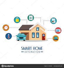 smart home automation tech u2014 stock vector yupiramos 134373394