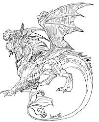 dragon line art by luna the moon dragon on deviantart