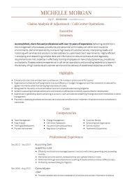 call center resume call center cv exles and template