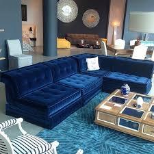 Blue Velvet Sectional Sofa by Furniture Enchanting Blue Tufted Velvet Sofa Interior Design