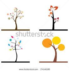 cute trees apple tree four seasons tree vector stock vector 401941081