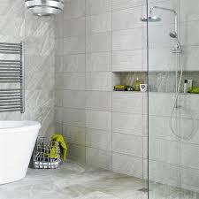 Light Grey Tiles Bathroom 25x50cm Ditto Light Grey Wave By Bct Grey Floor Tiles Tiles