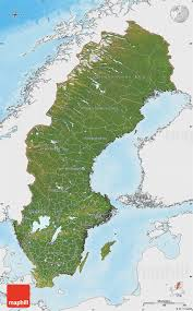 Map Sweden Satellite Map Of Sweden Single Color Outside Shaded Relief Sea