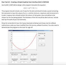 guide matlab creating a simple graphical user interface gui i chegg com
