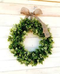 wreath boxwood wreath summer wreath large door