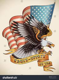 The Flag Of Usa Bald Eagle Attacking Flag Usa On Stock Vektorgrafik 168188561