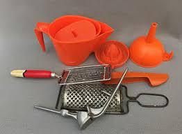 lot ustensiles de cuisine ancien lot ustensiles de cuisine vintage orange populaire