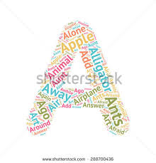 cute word cloud abc letters series stock vector 288700436