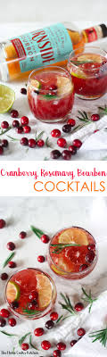 cranberry rosemary bourbon cocktails the home cook s kitchen