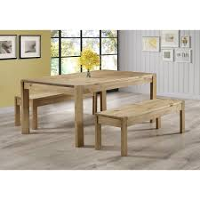 pine bench for kitchen table emerson solid pine dining table set includes 2 solid pine benches