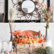 Fall Centerpieces 9 Gorgeous U0026 Rustic Farmhouse Fall Centerpieces