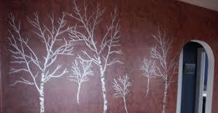 birch tree mural stencil1 a