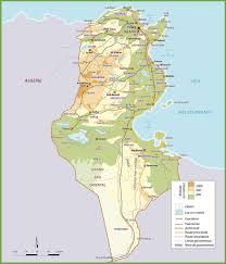 map of tunisia with cities tunisia maps maps of tunisia