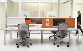 Teknion Reception Desk Workstation Desk Wooden Metal Contemporary Interpret