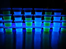 glow in the dark blacklight jello shots vodka berry blue u0026 lime