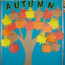 kid activities beginning of school year and autumn display boards