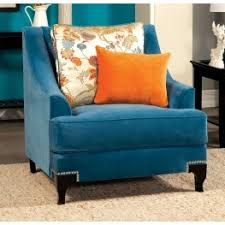 Peacock Blue Chair Modern Living Room Chairs Arm Chairs Wing Chairs Accent Chairs