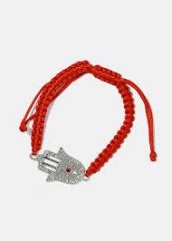 bracelet hand images Rhinestone hamsa hand bracelet shop miss a jpg