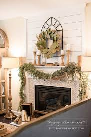 Decorations Tv Over Fireplace Ideas by Best 25 Farmhouse Fireplace Ideas On Pinterest Farmhouse With
