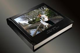 custom wedding album photo album flush mount wedding album with cameo and 2 lines