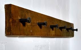 wall mounted coat rack llarg insolid corten bcn