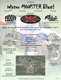 monster truck racing schedule monster truck racing makintraxx rc club