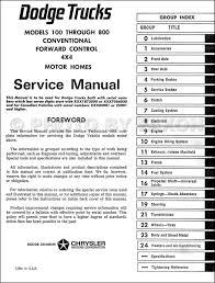 1969 1971 dodge 100 800 pickup truck repair shop manual original