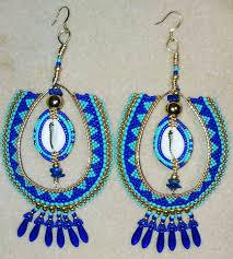 blue earrings blue and gold hoop earrings ayida honor