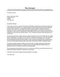 order administrator cover letter