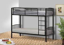metal small single bunk bed in 2ft6 bunk metal frame white black