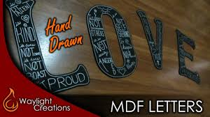 make hand drawn mdf letters wall art youtube