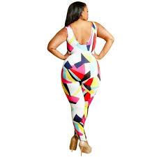 Plus Size Ripped Leggings Plus Size Multi Print Ripped Jumpsuit Addicted2fashion