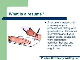 purdue university writing lab resume and cover letter workshop a