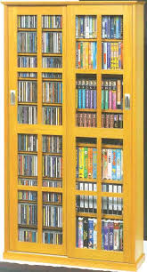 Cd Storage Cabinet With Glass Doors Leslie Dame Ms 700 Mission Multimedia Dvd Cd Storage