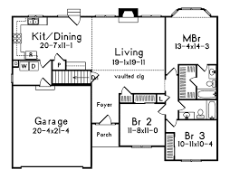 one story floor plan one story house plans open with concept modern l shaped closet