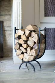 outdoor fireplace log rack with tools holder piece racks wrought